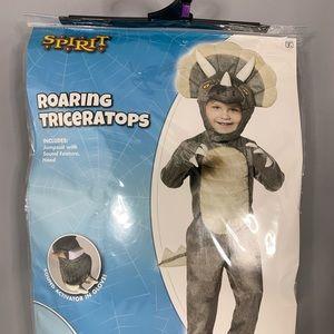 Roaring triceratops costume